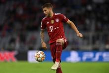 Lucas Hernandez avec le Bayern à Munich le 29 septembre 2021