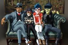 De gauche à droite : Russel, Noodle, 2-D, et Murdoc sont les 4 membres du groupe virutel Gorillaz.