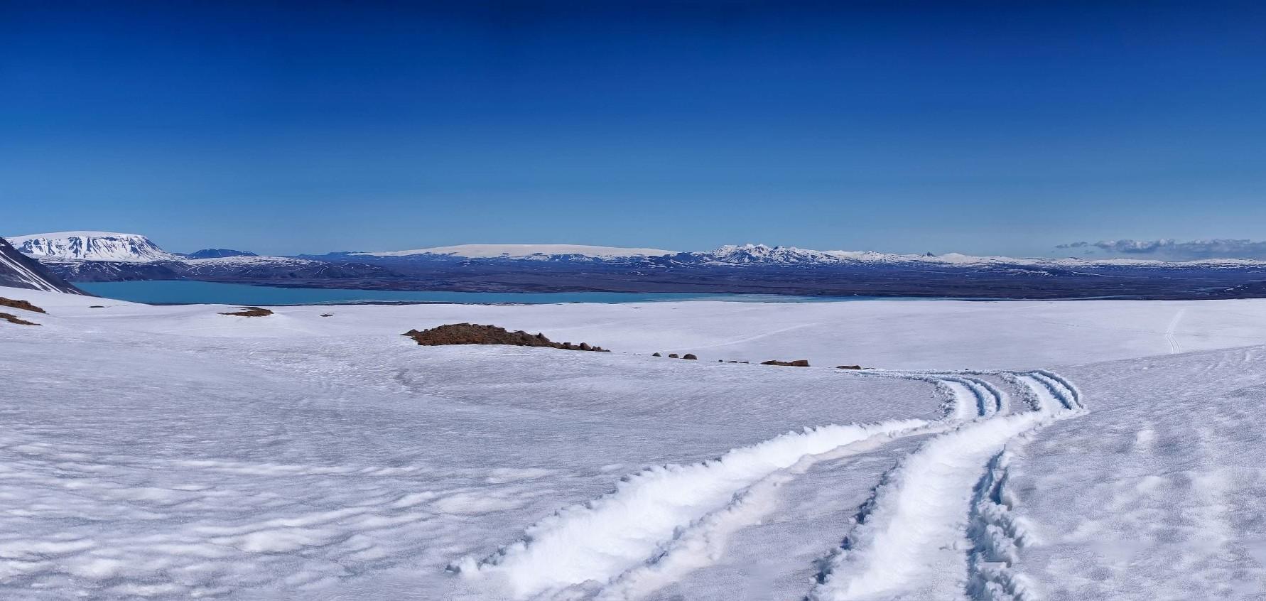 Le glacier de Langjökull est supposé apparaître pour représenter la base Starkiller