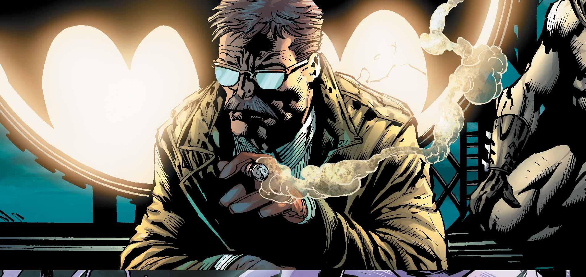 Une moustache, des lunettes et un imperméable : les attributs du fameux commissaire Gordon