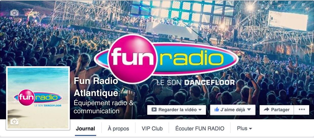 Pour jouer, Likez la page Fun Radio Atlantique