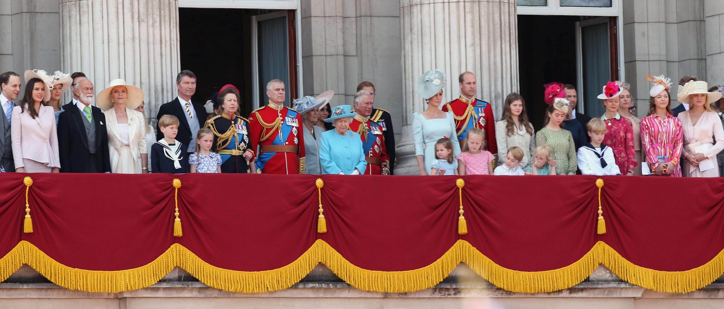 La famille royale au balcon du palais de Buckingham, le 9 juin 2018