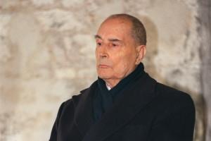 François Mitterrand le 6 mars 1995 à Jarnac