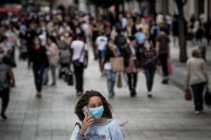 Une femme portant un masque pendant la crise de coronavirus en France (illustration).