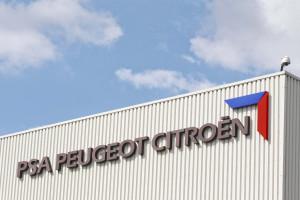L'usine de PSA Peugeot-Citroën de Poissy, dans les Yvelines