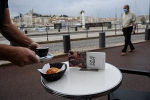 La terrasse d'un bar à Marseille en août 2020.