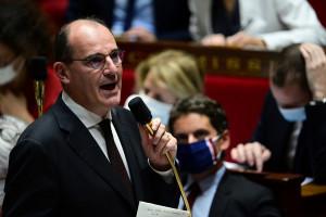Jean Castex prend la parole lors d'une session de questions au gouvernement