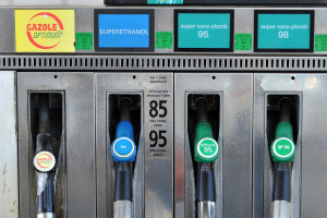 Une station service bordelaise vendant du biocarburant bioéthanol E85