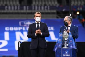Emmanuel Macron et Noël Le Graët au Stade de France le 24 juillet 2020