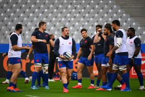 Le XV de France le 24 octobre 2020 au Stade de France.