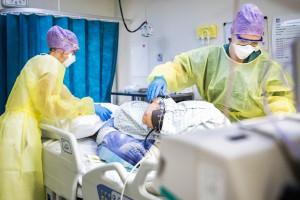 Un service de réanimation dans un hôpital, pendant l'épidémie de coronavirus (illustration)