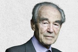Robert Badinter, président du Conseil constitutionnel et ancien ministre de la Justice