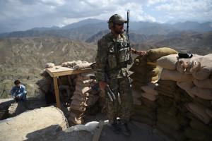 Un soldat de l'armée américaine lors d'une opération en Afghanistan en juillet 2018
