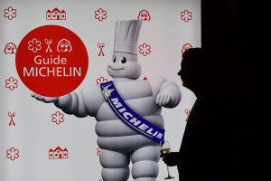 Présentation du guide Michelin en 2016 (illustration)