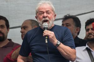 L'ex-président Lula, le 7 avril 2018