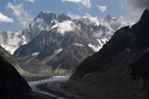 Mont-Blanc : le pic des Grandes Jorasses, sur la Mer de glace, à Chamonix (illustration).
