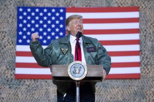 """Donald Trump lors de sa visite surprise en Irak le"""" 26 décembre 2018."""