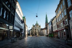 Une rue de Copenhague, le 12 janvier 2021