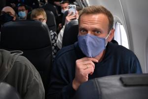 Alexeï Navalny en route vers la Russie le 17 janvier