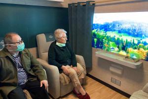 Le wagon thérapeutique Grand Via a déjà des effets sur les résidents de l'Ehpad du CHU de Beauvais.