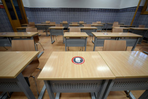 Une salle de cours à l'Université de Comillas, à Madrid (illustration)