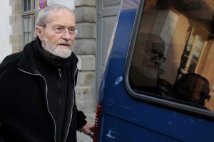 Maurice Agnelet, le 11 avril 2014, après avoir été jugé coupable du meurtre d'Agnès Le Roux par le tribunal de Rennes