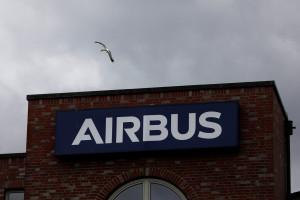 L'entrée principale de l'usine Airbus à Hambourg en Allemagne (illustration)