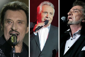 En 1997, Sardou, Hallyday et Mitchell chantaient ensemble