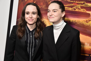 Elliot Page et Emma Portner en 2019 à New York