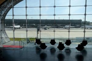 Photo du tarmac du Terminal 2E de l'aéroport Paris-Charles de Gaulle à Roissy en France le 12 mai 2020.