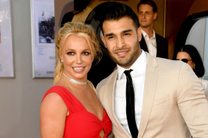 Britney Spears et son petit ami Sam Asghari en 2019 à Hollywood