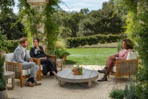 Meghan et Harry lors de l'interview face à Oprah Winfrey dimanche 7 mars 2021