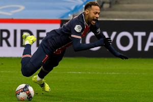 Neymar avec le PSG à Marseille le 7 février 2021