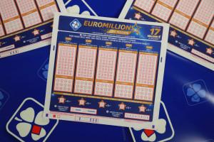 Un ticket d'Euromillions.