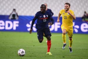 N'Golo Kanté avec les Bleus face à l'Ukraine le 24 mars 2021 à Saint-Denis