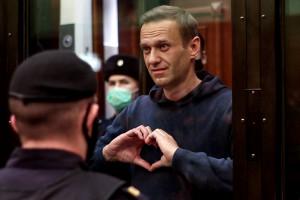 Le chef de l'opposition russe Alexeï Navalny, lors d'une audience à Moscou, le 2 février 2021.