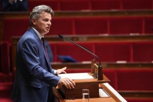 Fabien Roussel à l'Assemblée nationale le 28 avril 2020