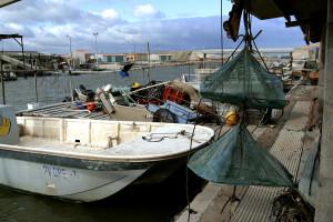 Des bateaux d'ostréiculture (illustration)