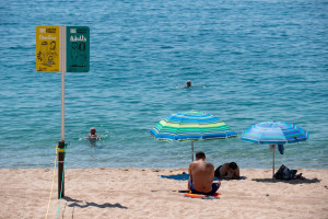 Une plage de Lloret de Mar en Espagne le 22 juin 2020. (Illustration)