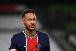 Neymar avec le PSG au Parc des Princes le 13 avril 2021