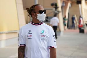 Lewis Hamilton à Bahrein en mars 2021