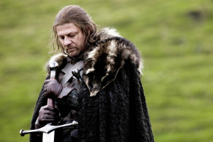 "Ned Stark, incarné par Sean Bean dans la saison 1 de ""Game of Thrones"""