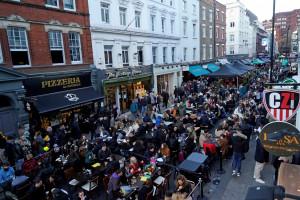 Une rue du quartier de Soho, à Londres, le 16 avril 2021