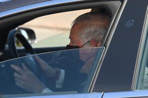 Le prince Charles au funérailles de son père Philip.