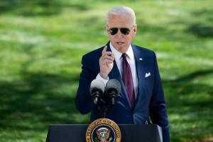 Joe Biden à la Maison Blanche le 27 avril 2021.