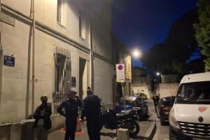 Rue du Râteau à Avignon, lieu où le policier a été tué.