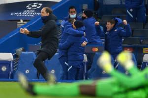 Thomas Tuchel et les Blues de Chelsea exultent le 5 mai 2021 à Stamford Bridge