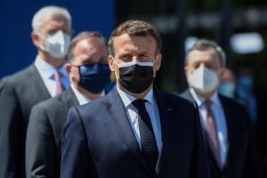 Emmanuel Macron à Porto le 8 mai 2021