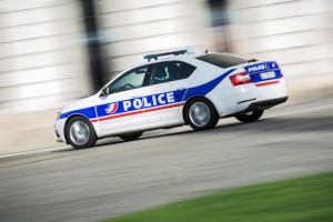 Une voiture de police. (Illustration)