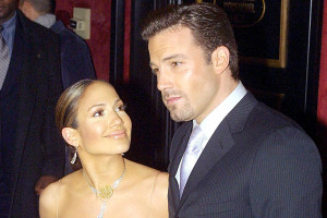 Jennifer Lopez et Ben Affleck en 2002 à New York